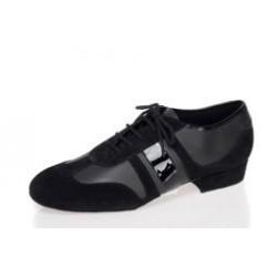 090 zwart leder/suede/lak